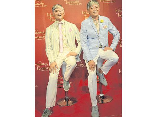 李迪文昨早為蠟像揭幕,他受訪時表示很榮幸,也指這是很棒的SG50禮物。