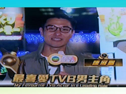 陳展鵬透過直播連線,分享得獎感言。
