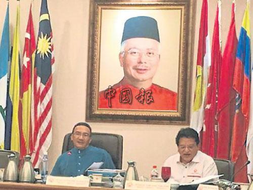 希山慕丁(左)週五主持最高理事會會議,引發風波。(檔案照)