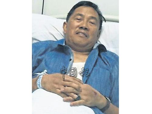 沙巴威雖然無恙,為安全起見,入院觀察。