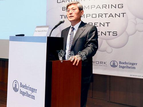 ▲韓國成均館大學醫學院教授兼三星醫療中心創新癌症醫藥部總監樸根七。