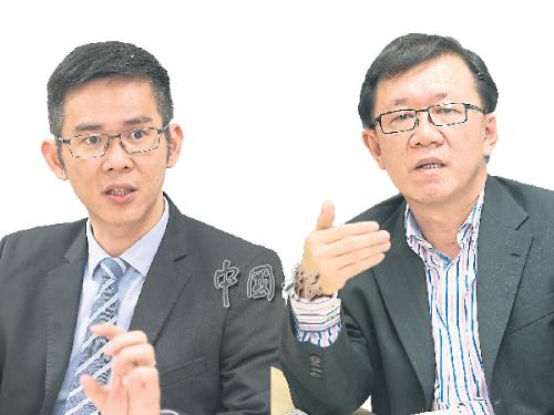 (左)奕豐資本董事經理陳奕冠。 (右)中總社會經濟研究中心執行董事李興裕。