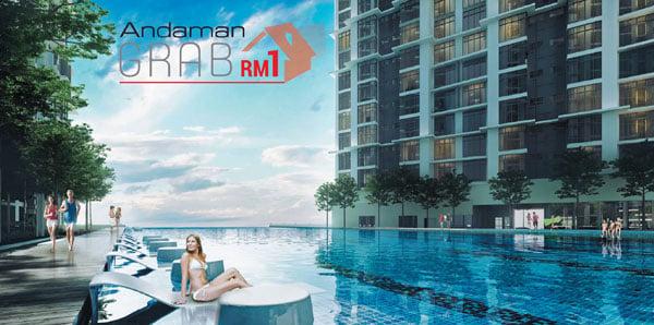 """安達集團""""1令吉購買一間房屋""""(ANDAMAN  GRAB House @ RM 1)活動,只需付出區區1令吉,即有機會坐擁夢想家居。"""