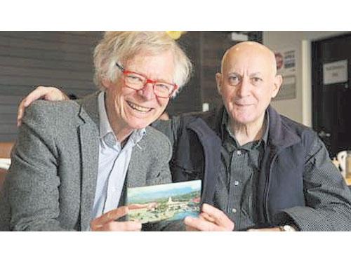 ■萊諾德(左)和喬治再度聚首。