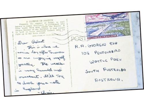 ■花了50年才寄達的明信片。