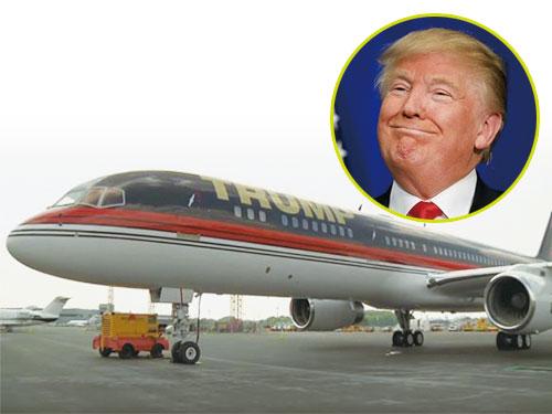 特朗普有一架專機,比美國政府的空軍一號豪華得多。(圖:互聯網)