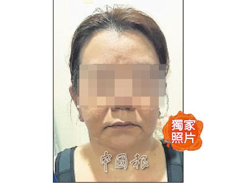 """幕后操控""""爱情包裹""""诈骗集团的本地华裔女首脑。(《中国报》独家照片)"""