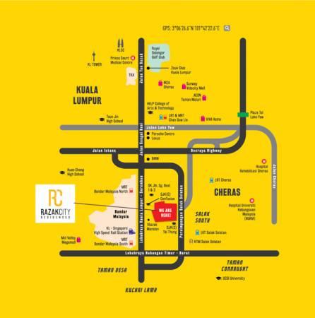 坐落在新街場的Razak City,交通四通八達,出入非常方便。