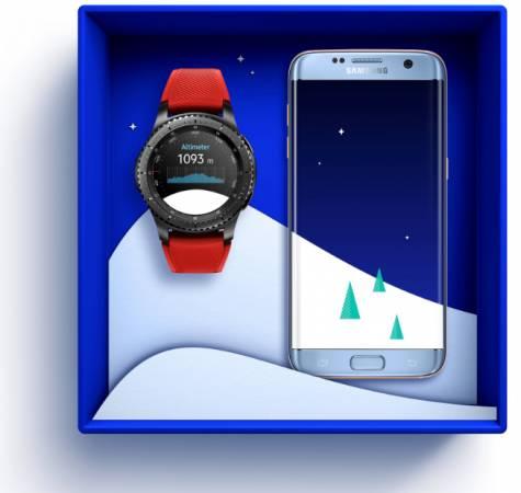 三星Galaxy S7edge與Gear S3智慧錶,是聖誕禮物的最佳搭配。