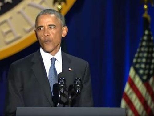 奧巴馬最後告別演說。∕翻攝白宮