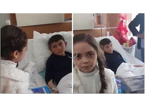 阿拉貝探望受傷的阿沙杜夫。(互聯網)