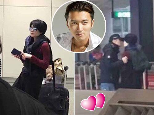 王菲和謝霆鋒被捕獲在機場放閃。(圖取自微博)