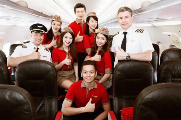 越捷航空的專業機師及服務良好空服人員為乘客提供最優質的飛行體驗。