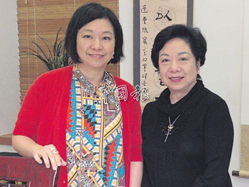 當潘斯里陳秋霞確診患上乳癌,流淚最多的人不是她,而是其姐姐鄺陳美寶(右)。