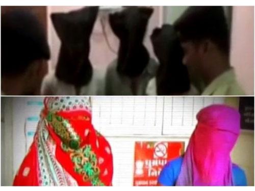 兩名受害人(下圖)接受採訪,警方其后拘捕部分疑犯(上圖)。