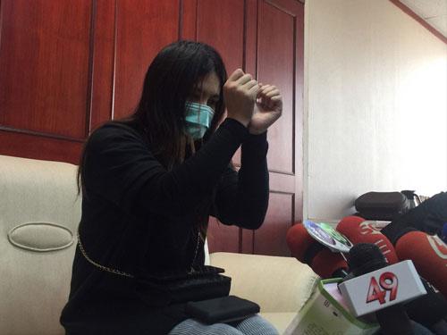 """台灣女子""""喬妹""""召開記者會,控訴在入境大馬時遭移民局官員無理對待。 圖/互聯網"""