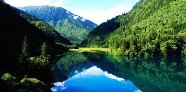 四川九寨溝多姿多彩的大自然景觀,令人驚歎。