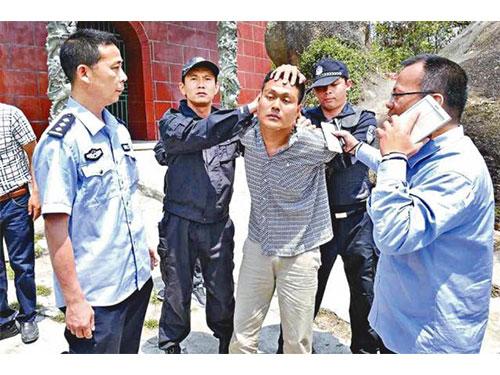 梁漢豹周日被警方擒獲。