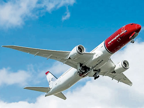 挪威航空9月起推出每週四趟往返新加坡與倫敦蓋特威特機場的直飛航班。(互聯網)