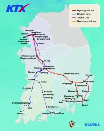 韓國高速列車(KTX)最高行駛時速為305公里/小時,可在短短數小時,帶你到韓國各大城市游玩。