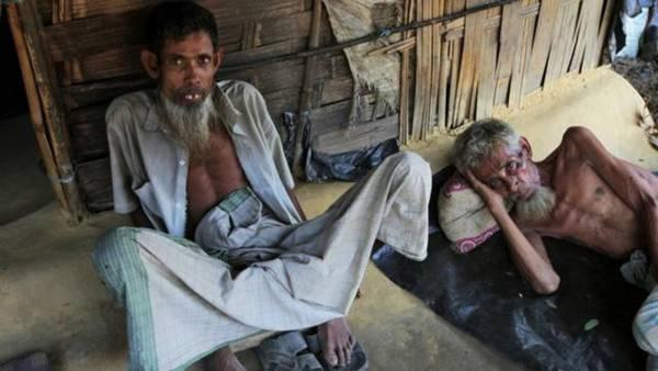 緬甸羅興亞難民於孟加拉難民營。