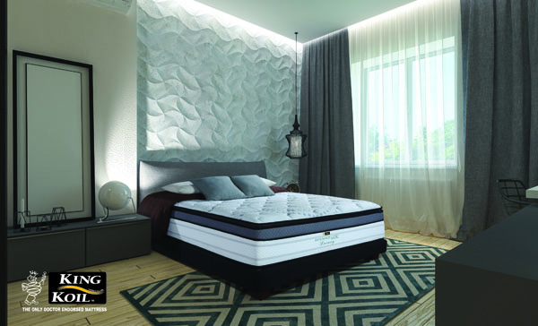 Master bedroom with dressing room 3D panels in a modern style