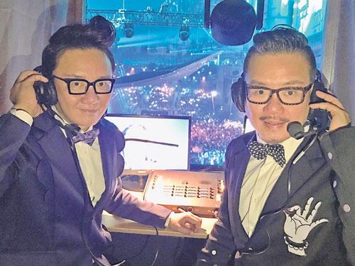 李偉菘(左)和李偲菘首次到烏克蘭,為歐歌賽擔任特約主持人。
