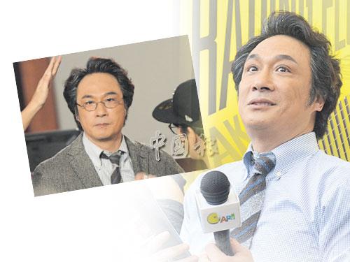 吳鎮宇昨日以白髮造型會見媒體。 小圖:飾演官員的吳鎮宇一頭白髮滄桑的造型。