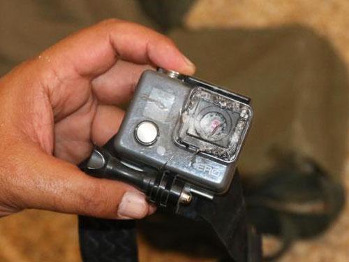 救了記者一命的GoPro攝影機。