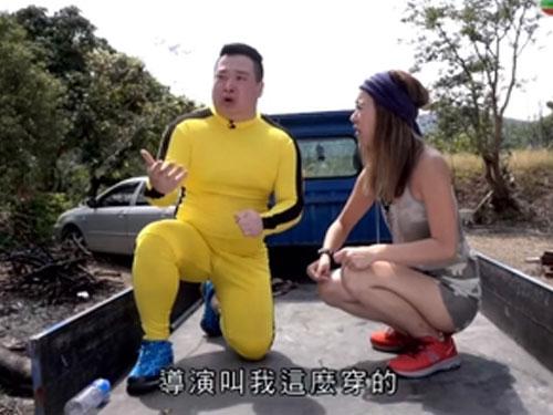 最近曾國猷(左)和梁芷珮(Christy)為TVB拍攝旅遊節目《超級台灣任務》。