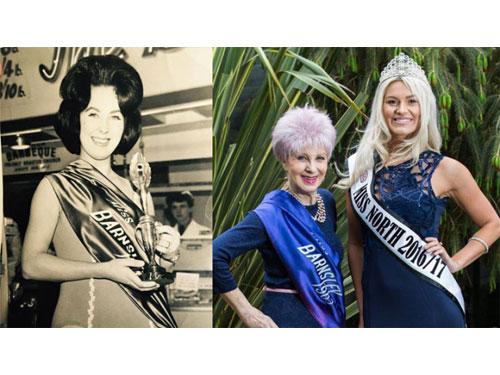 祖母本身是1965年首屆巴恩斯利小姐冠軍,結果52年後,孫女(右)也成為冠軍佳麗。圖:互聯網
