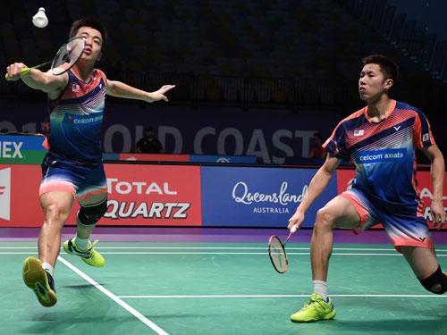 吳蔚昇(右)與陳蔚強的世界賽參賽資格不受影響,但如果表現不好就要拆夥。(新華社)