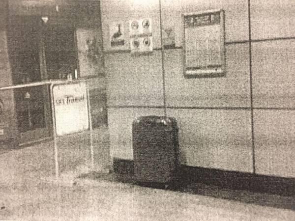 """被告在地鐵站內""""寄放""""行李,驚動警方到場。(檔案照)"""
