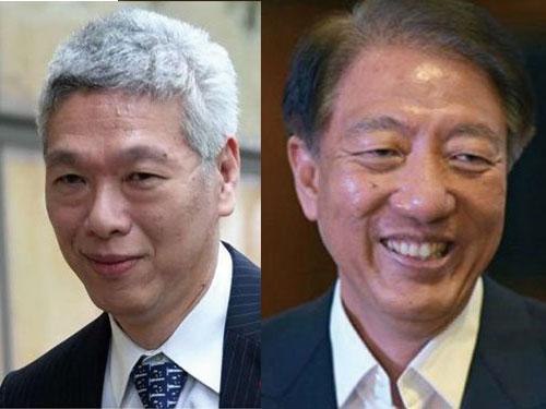 左圖:李顯揚。 右圖:新加坡副總理張志賢。