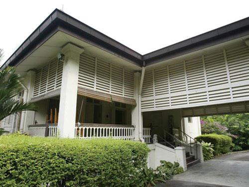 李光耀于歐思禮路38號的故居。