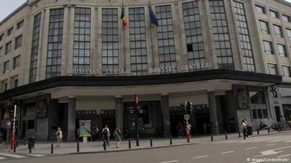 布魯塞爾中央火車站。∕翻攝推特
