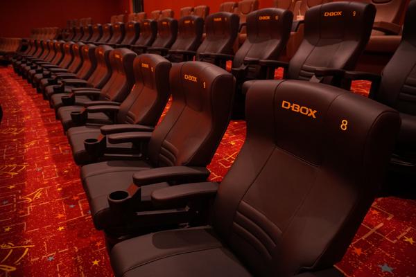 可以跟隨著劇情震動的D-BOX座椅,增添你觀賞電影的另一項全新感受。