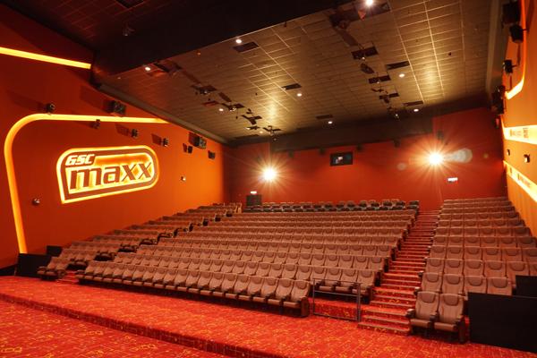 全新的GSC Maxx放映廳,讓你可以完全沉浸在電影情節中。