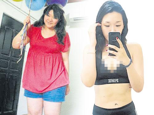 林儀萍減掉60公斤,前后判若兩人。(受訪者提供)