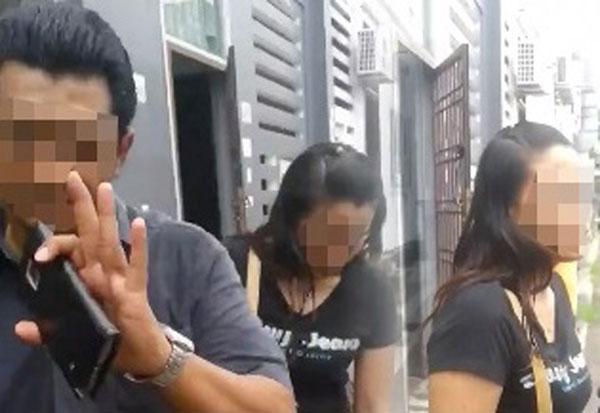女網友上載大馬籍丈夫與女友偷歡被逮後,要與妻子離婚。(取自The Reporter網站)