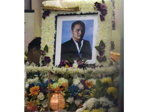 死者遺體週二晚開始停柩在潮州殯儀館。