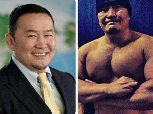 蒙古新總統巴圖勒嘎,胸肌比頭大。