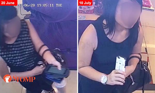 女子偷錶被電眼拍下。(圖片取自stomp)