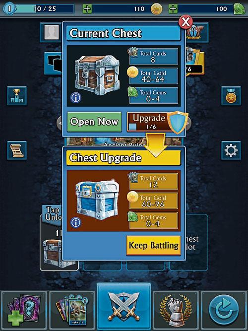 03‧雖然泰坦戰爭完全可以讓玩家自由發揮,一些游戲中的物品也可以買到,但需要用到真正的金錢。如果玩家不想使用此功能,可以通過設置,關閉支付功能。圍攻你的對手、塔和城堡,贏得和賺取寶箱,打開箱子解鎖新卡,升級你的戰士和加強你的泰坦,你還可以收集和整理自己的卡片与戰士。