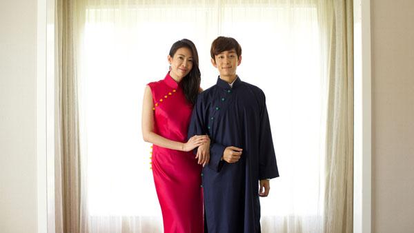 穿上現代旗袍的田銘耀與劉子絢,低調在浮羅交怡舉辦海島婚禮。