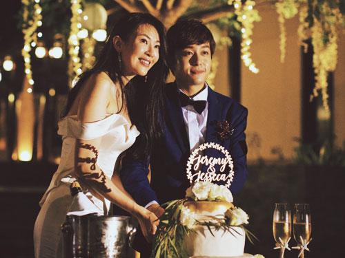 田銘耀與劉子絢先前花了約1年時間籌備婚禮。