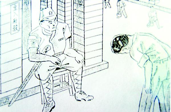 日治時代,人民見到日本蝗軍須行鞠躬禮。