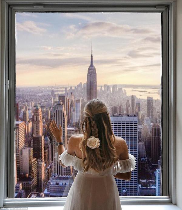 紐約的天際線非常的漂亮。