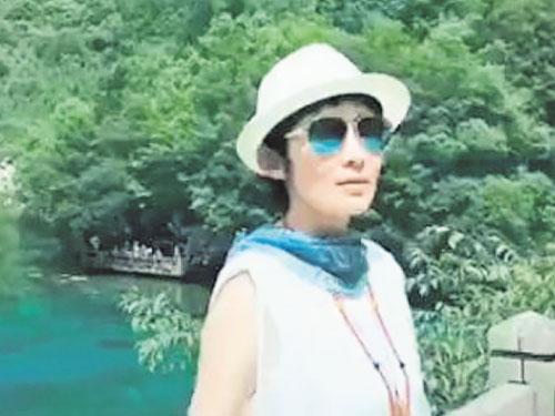 張敏近日待在四川,圖為7月初造訪九寨溝。翻自微博
