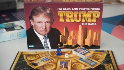 """美國總統特朗普1989年推出的桌上遊戲""""I'm Back and You're Fired""""。圖/巴士的報"""